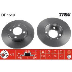 Bremsscheibe Bremsscheibendicke: 10mm, Lochanzahl: 4, Ø: 239mm mit OEM-Nummer 811.615.301