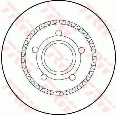 Bremsscheiben DF1528 TRW DF1528 in Original Qualität