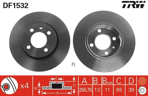 Discos de Freno DF1532 TRW DF1532 en calidad original