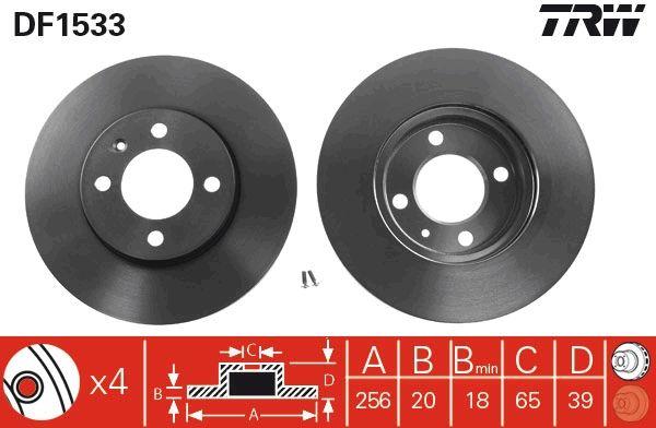 Bremsscheiben DF1533 TRW DF1533 in Original Qualität