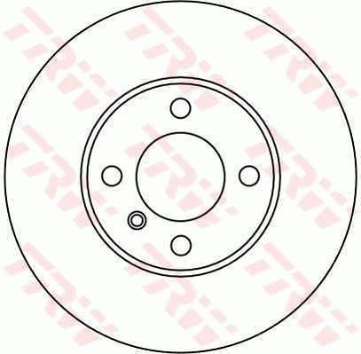 Bremsscheiben DF1553 TRW DF1553 in Original Qualität
