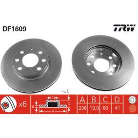 Bremsscheibe Bremsscheibendicke: 19,9mm, Lochanzahl: 6, Ø: 236mm mit OEM-Nummer 90008006