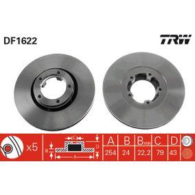 Bremsscheibe Bremsscheibendicke: 24,2mm, Lochanzahl: 5, Ø: 254mm mit OEM-Nummer 5025 610