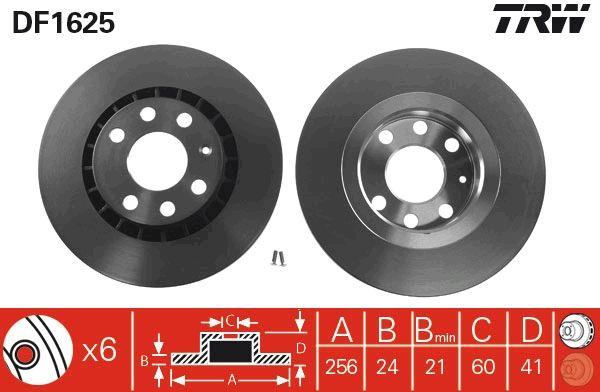Bremsscheiben DF1625 TRW DF1625 in Original Qualität