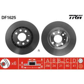 Bremsscheibe Bremsscheibendicke: 24mm, Lochanzahl: 6, Ø: 256mm mit OEM-Nummer 9048 7402