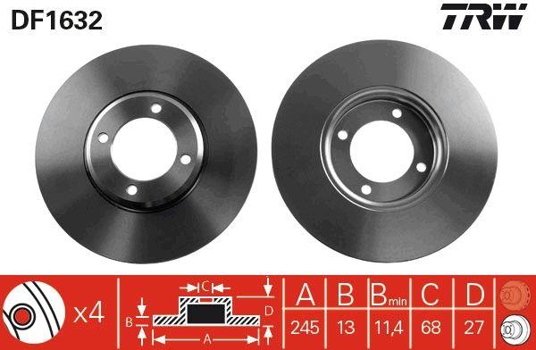 Bremsscheiben DF1632 TRW DF1632 in Original Qualität