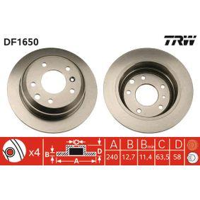 Bremsscheibe Bremsscheibendicke: 12,7mm, Lochanzahl: 4, Ø: 240mm mit OEM-Nummer 6 100 043