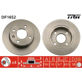 Disco de travão Número do artigo DF1652 130,00€