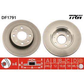 Bremsscheibe Bremsscheibendicke: 12mm, Lochanzahl: 4, Ø: 240,5mm mit OEM-Nummer 71738423