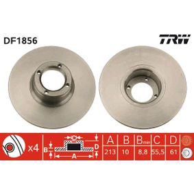 Bremsscheibe Bremsscheibendicke: 10mm, Lochanzahl: 4, Ø: 213mm mit OEM-Nummer 21 A 2612
