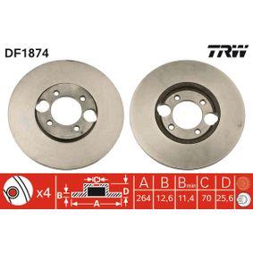 Bremsscheibe Bremsscheibendicke: 12,6mm, Lochanzahl: 4, Ø: 264mm mit OEM-Nummer C46113