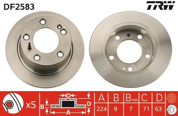 Bremsscheiben DF2583 TRW DF2583 in Original Qualität