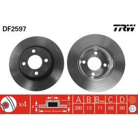 Bremsscheibe Bremsscheibendicke: 12,9mm, Lochanzahl: 4, Ø: 280mm mit OEM-Nummer 8A0.615.301D