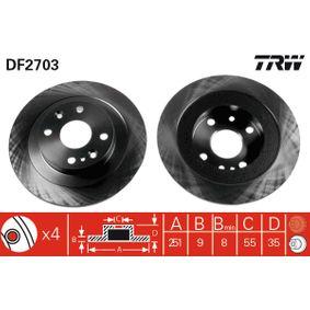 2003 Mazda MX 5 NB 1.6 16V Brake Disc DF2703
