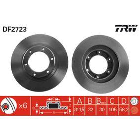 Bremsscheibe Bremsscheibendicke: 32mm, Lochanzahl: 6, Ø: 311,5mm mit OEM-Nummer 43512-60090