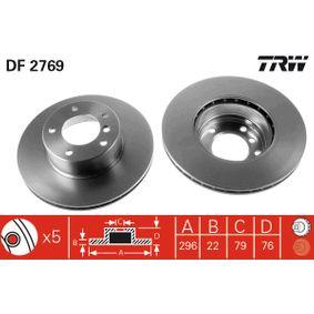Bremsscheibe Bremsscheibendicke: 22mm, Lochanzahl: 5, Ø: 296mm mit OEM-Nummer 1163081