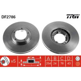 Bremsscheibe Bremsscheibendicke: 24,3mm, Lochanzahl: 5, Ø: 254mm mit OEM-Nummer 5029 815