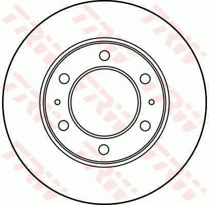 Bremsscheiben DF3035 TRW DF3035 in Original Qualität