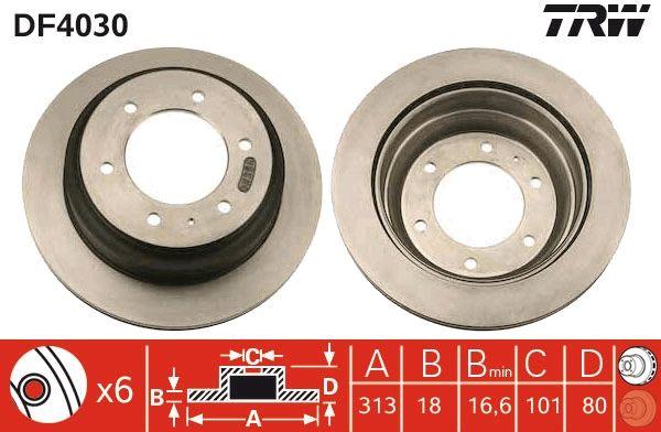 Bremsscheiben DF4030 TRW DF4030 in Original Qualität