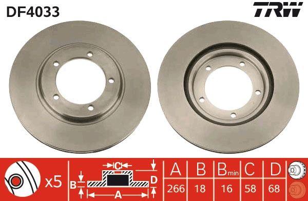 Bremsscheiben DF4033 TRW DF4033 in Original Qualität