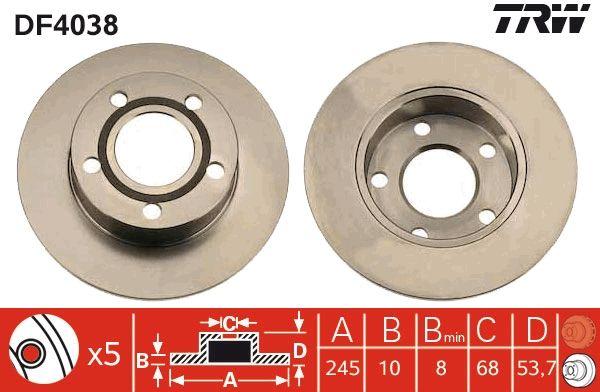 Bremsscheiben DF4038 TRW DF4038 in Original Qualität