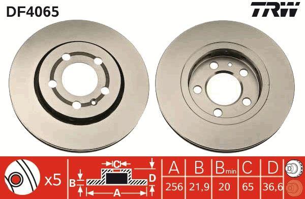 Bremsscheiben DF4065 TRW DF4065 in Original Qualität