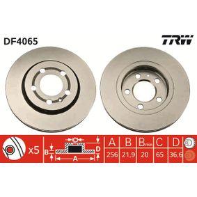 Bremsscheibe Bremsscheibendicke: 21,9mm, Lochanzahl: 5, Ø: 256mm mit OEM-Nummer 8L0615601