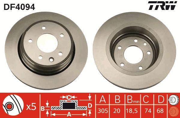 Bremsscheiben DF4094 TRW DF4094 in Original Qualität