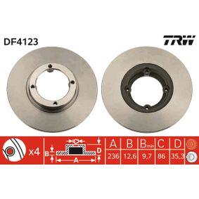 Disco de freno DF4123 MATIZ (M200, M250) 1.0 ac 2009