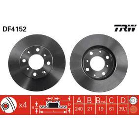 Спирачен диск DF4152 Jazz 2 (GD_, GE3, GE2) 1.2 i-DSI (GD5, GE2) Г.П. 2008