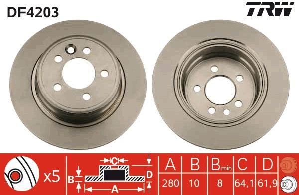 Bremsscheiben DF4203 TRW DF4203 in Original Qualität