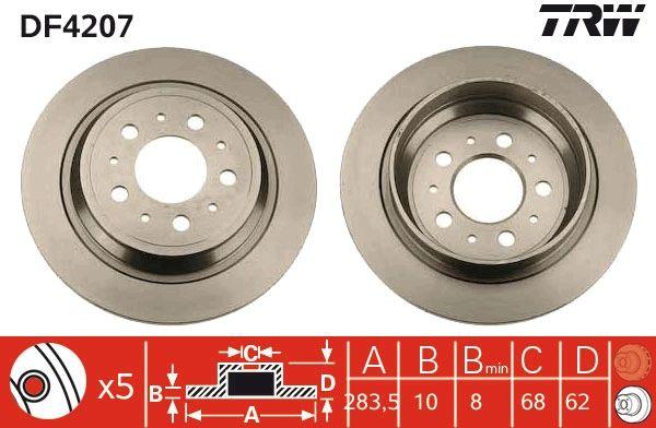 Bremsscheiben DF4207 TRW DF4207 in Original Qualität