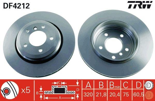 Bremsscheiben DF4212 TRW DF4212 in Original Qualität