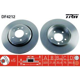 Bremsscheibe Bremsscheibendicke: 21,8mm, Lochanzahl: 5, Ø: 320mm mit OEM-Nummer 6 855 157