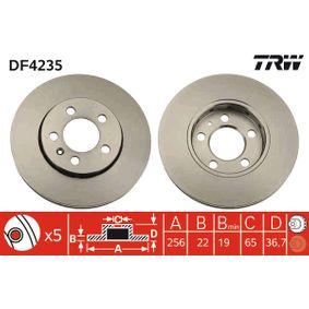 Brake Disc DF4235 Fabia 2 (542) 1.2 12V MY 2014