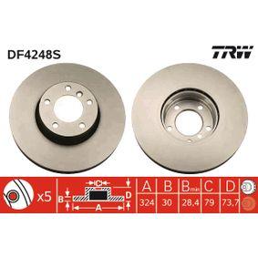 Bremsscheibe Bremsscheibendicke: 30mm, Lochanzahl: 5, Ø: 324mm mit OEM-Nummer 34 111 165 859