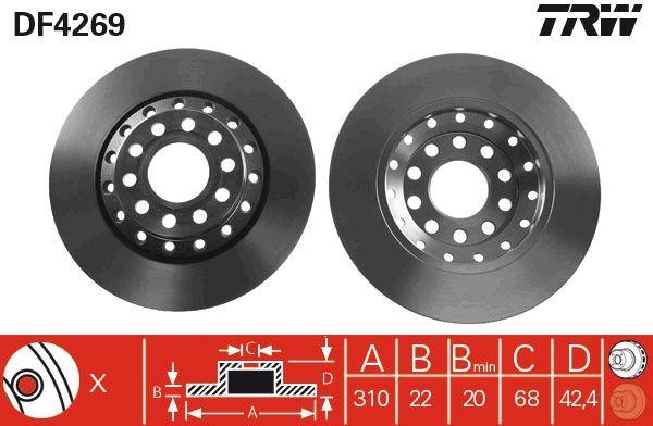 Bremsscheiben DF4269 TRW DF4269 in Original Qualität
