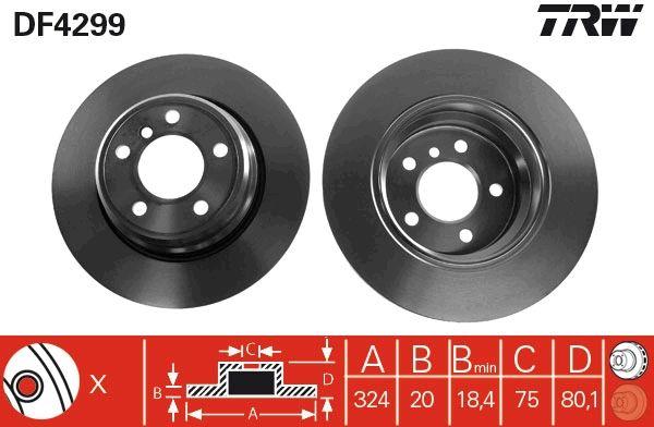 Bremsscheiben DF4299 TRW DF4299 in Original Qualität