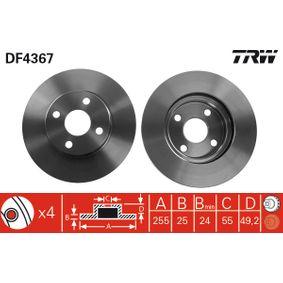 Disco de freno DF4367 COROLLA Verso (ZER_, ZZE12_, R1_) 1.3 VVTi ac 2005