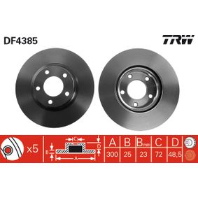 Disco de freno DF4385 3 (BK) 2.3 MZR ac 2009