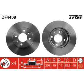 Disco de freno DF4409 GETZ (TB) 1.5 i ac 2003