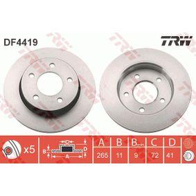 2013 Mazda 3 BL 1.6 MZR CD Brake Disc DF4419