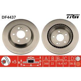 Bremsscheibe Bremsscheibendicke: 22mm, Lochanzahl: 5, Ø: 300mm mit OEM-Nummer 220 423 02 1264