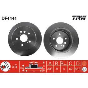 Brake Disc DF4441 RAV 4 II (CLA2_, XA2_, ZCA2_, ACA2_) 2.4 4WD MY 2003