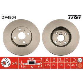 Disco de freno DF4804 Yaris Hatchback (_P9_) 1.5 (NCP91_) ac 2011