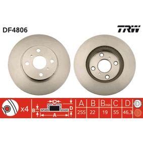 Disco de freno DF4806 Yaris Hatchback (_P9_) 1.5 (NCP91_) ac 2010