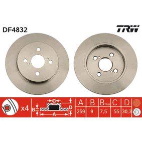 Disco de freno DF4832 Yaris Hatchback (_P9_) 1.5 (NCP91_) ac 2006