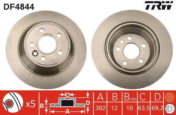 Bremsscheiben DF4844 TRW DF4844 in Original Qualität