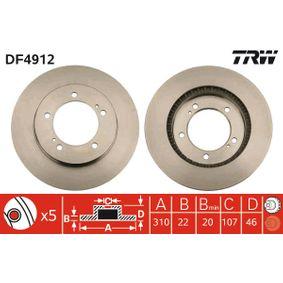 Disco de freno DF4912 VITARA Cabrio (ET, TA) 1.9 D ac 1997
