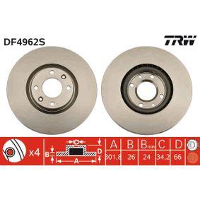2012 Peugeot 3008 Mk1 1.6 THP Brake Disc DF4962S